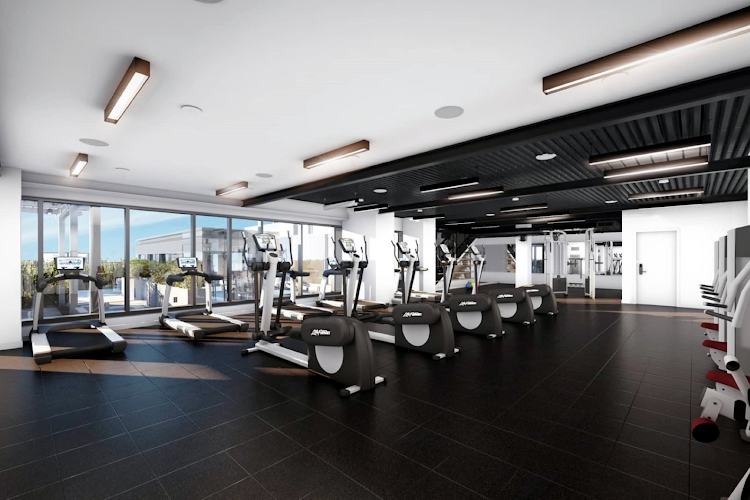 Gym at South End apartment