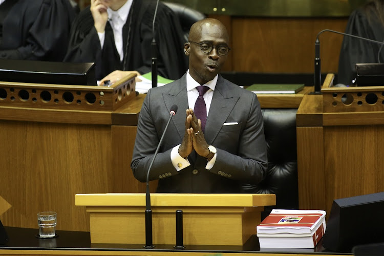 Finance Minister Malusi Gigaba delivers the 2018 Budget speech.