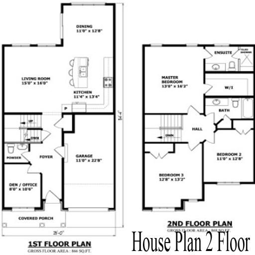 House Plan 2 Floor icon