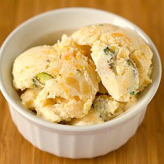 Dried Apricot-Pistachio Ice Cream