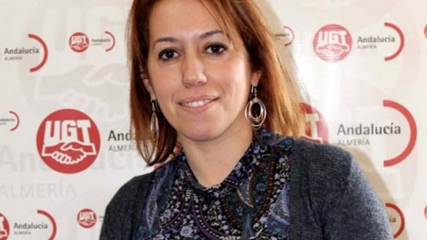 Carmen Vidal, actual secretaria general de UGT Almería.