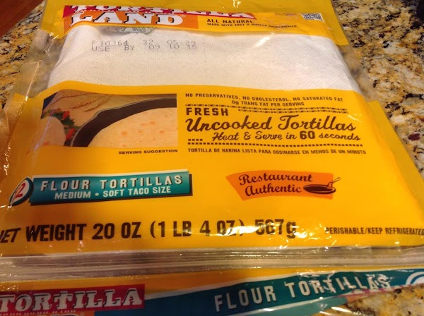 For your information.  I used uncooked flour tortillas and I highly recommend them...