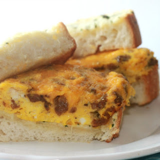 Texas Cheesy Garlic Toast Breakfast Sandwich