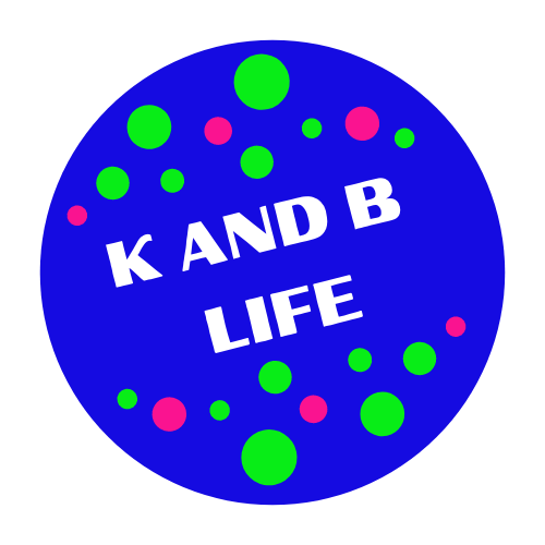 K and B Life logo with colorful dots