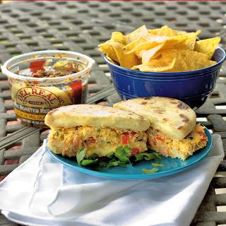 Carnitas Pupusadillas (a.k.a. Triple Decker Carnitas Grilled Cheese)