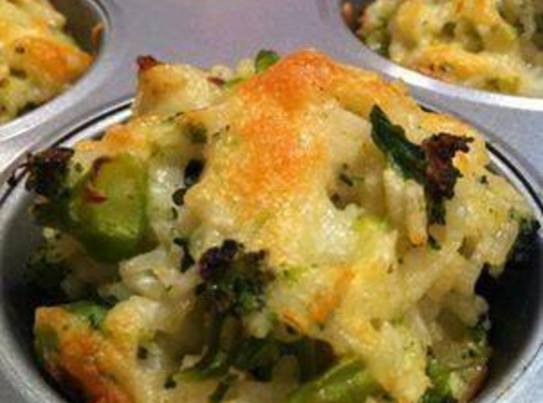 Cheddar Broccoli Rice Cups Recipe