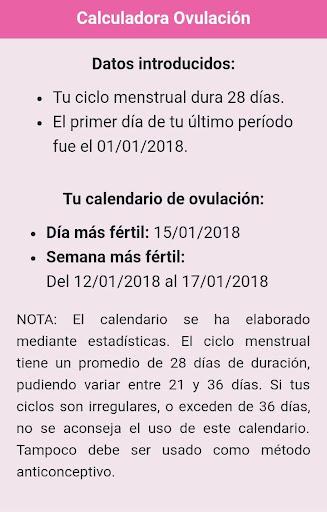 Calendario Fertil.Calculadora Calendario Ovulacion App Report On Mobile Action App