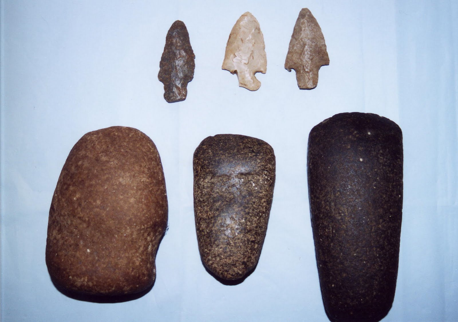 Photo: From dating these arrowheads and scrapers that were found on the shores of Lake Pogamasing, archeologist Chris Hanks believed that Aboriginals lived in the area for several centuries. The first confirmed habitation was that of the Espagnol family who began living on Pog in 1857. (Gail and Cy Tulk)