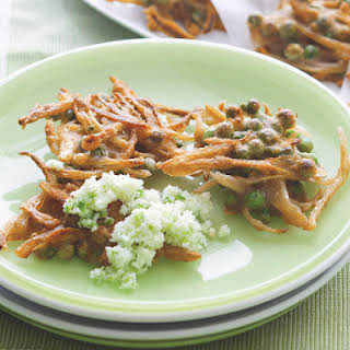 Pea Fritters with Chili Coconut.