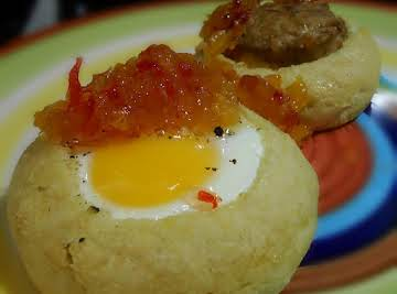 Egg in a muffin