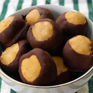 Chocolate Peanut Butter Buckeyes.