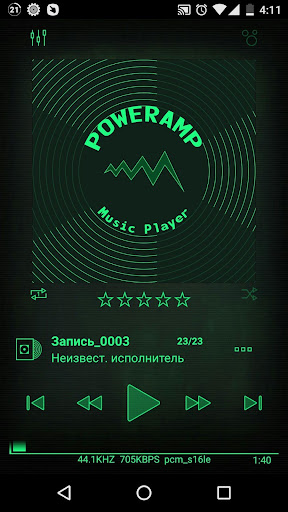 Nuclear 3k Poweramp Skin ss1