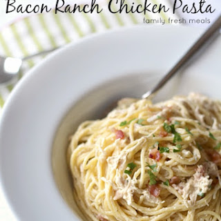 Slow Cooker Bacon Ranch Chicken and Pasta.
