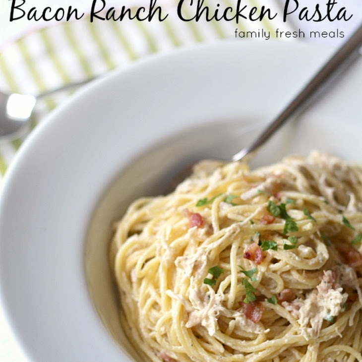 Slow Cooker Bacon Ranch Chicken and Pasta Recipe