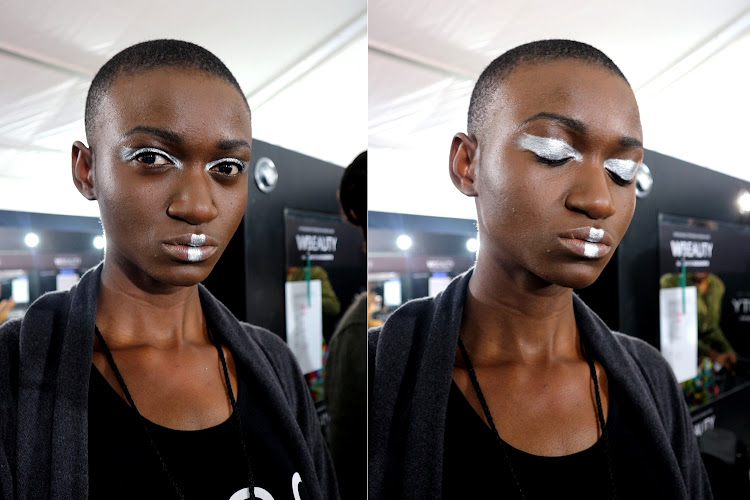 'Futuristic Tribal' beauty look at SAFW 2018.