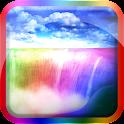 Rainbow Waterfall Splash LWP icon