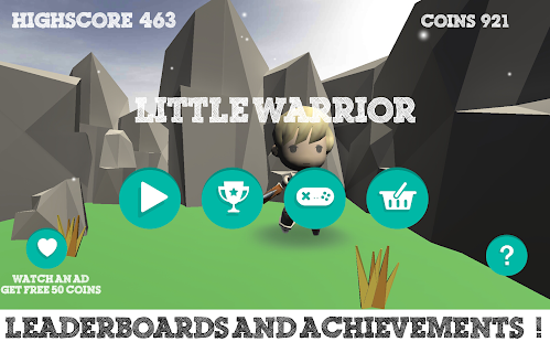 Little Warrior 3D Runner - náhled