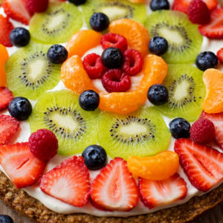 Healthier Breakfast Fruit Pizza