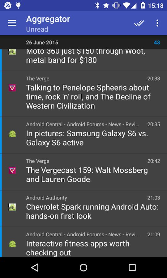 Aggregator | RSS News Reader - screenshot
