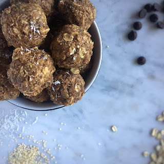 Carob Chip Cookie Dough Protein Bites Recipe