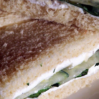 Cucumber and Goat Cheese Sandwich.