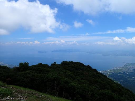 琵琶湖上空はすっかりと晴れ渡り