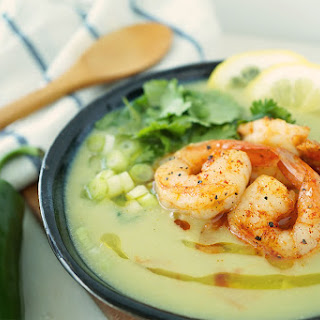 Healthy Avocado Shrimp Bisque