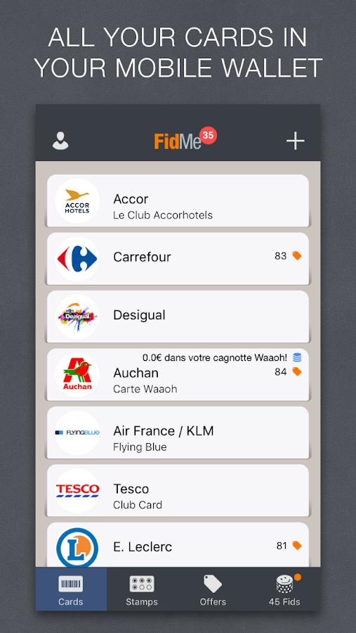 FidMe Loyalty Cards & Coupons- screenshot