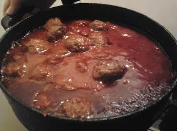 "Italian meatballs with an ""Irish Pudding Twist"""