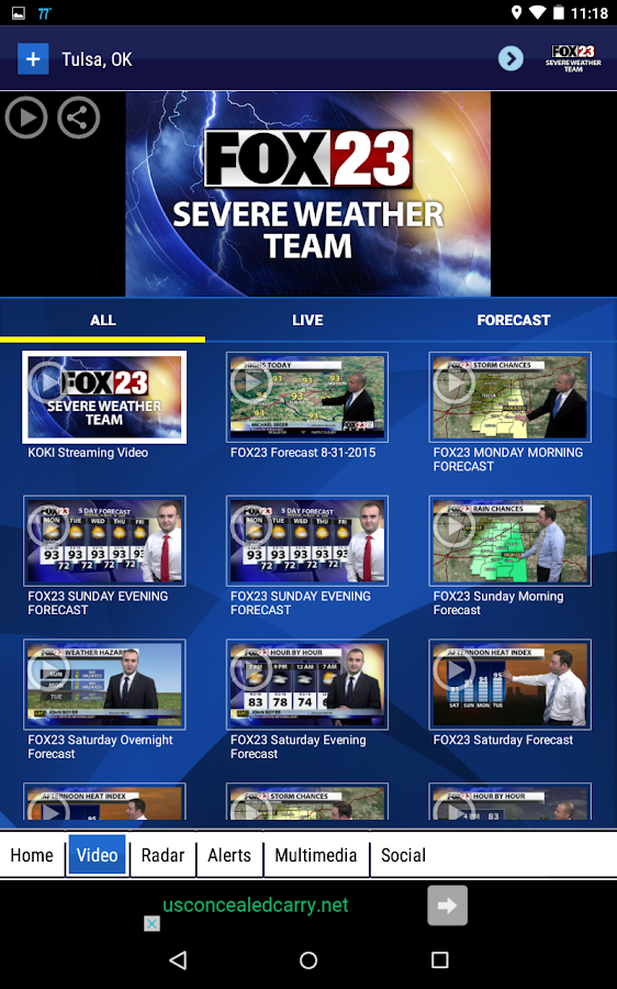 FOX23 Weather- screenshot