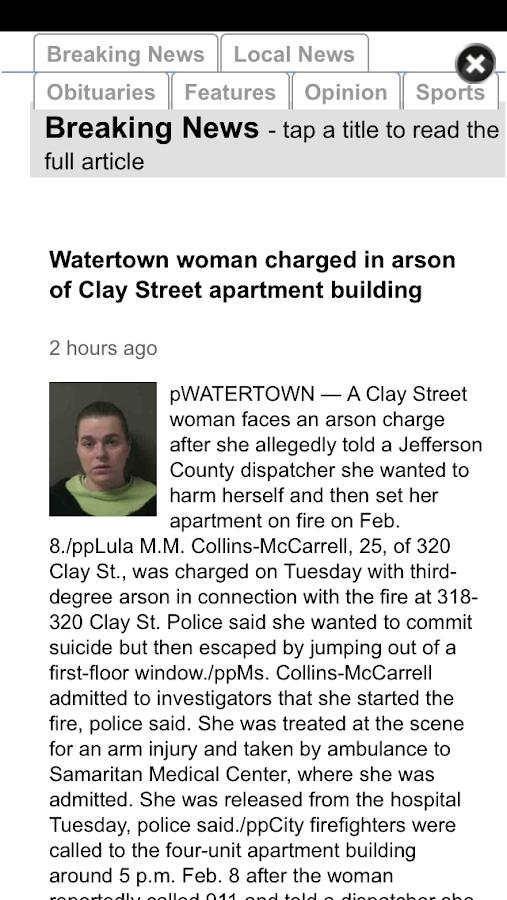 Watertown Times- screenshot