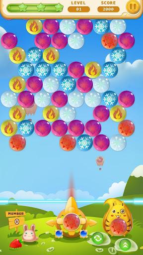 バブルのシューティングゲーム