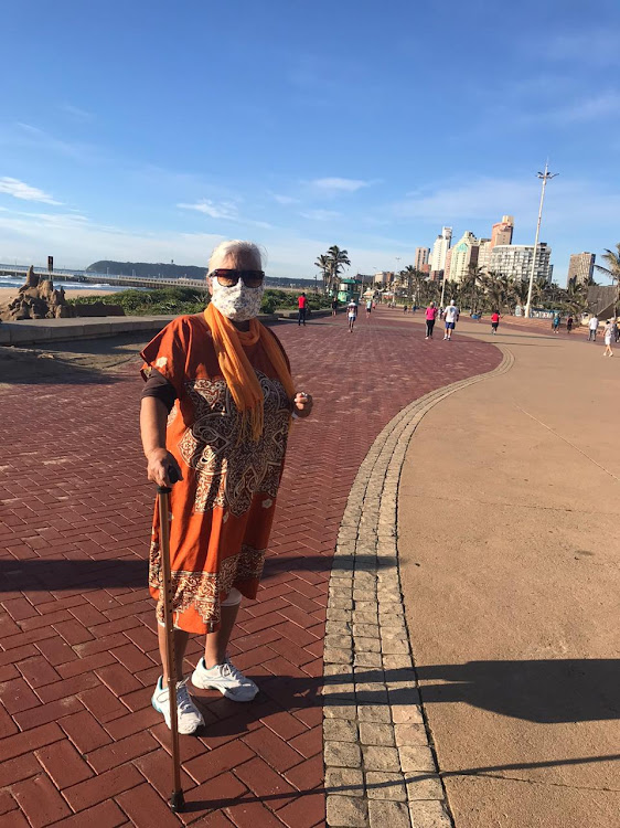 Durban pensioner Vijay Nair was overjoyed to be outside again.