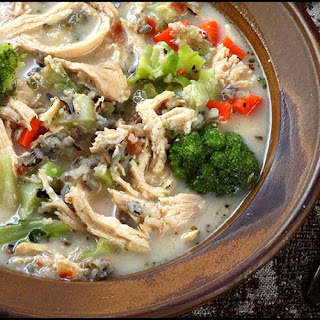 Creamy Chicken and Rice Soup.