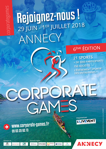 Affiche des Corporate Games d'Annecy - 2018