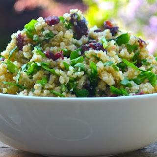 Lemon, Spinach & Cranberry Quinoa Salad