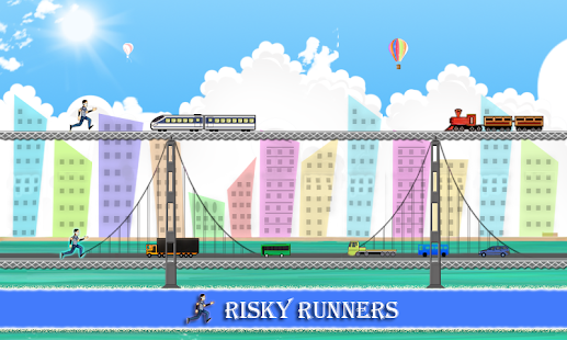 Risky Runners Game - náhled