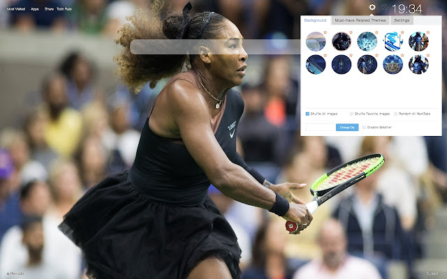 Serena Williams HD Wallpapers New Tab