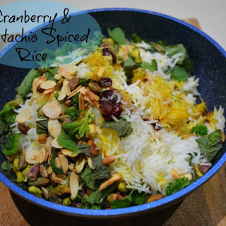 Cranberry and Pistachio Spiced Rice