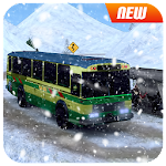 Snow Bus Offroad Driver : Modern Tourist Coach 3D Icon