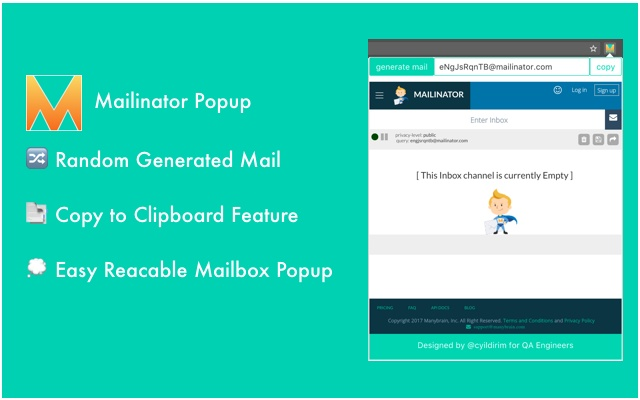 Mailinator Popup