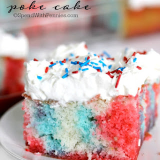 Red White and Blue Poke Cake.