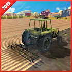 Real Tractor Farming Simulator 18 Harvesting Game icon