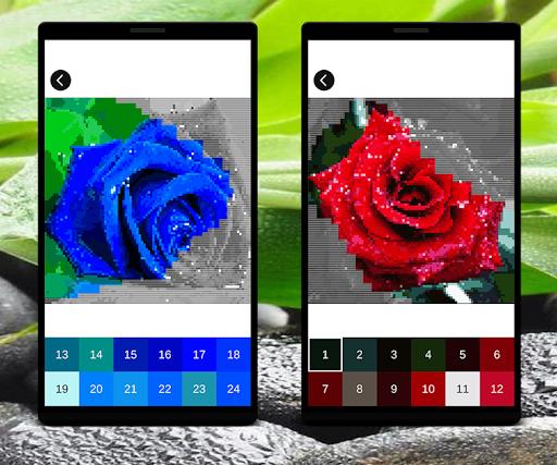 Coloring Flowers Pixel Art Game screenshots apkshin 4