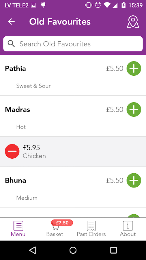 Taza Ordering App- screenshot
