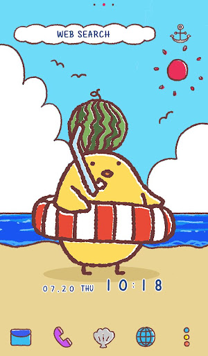 Cute Wallpaper Chick in Summer Theme 1.0.0 Windows u7528 5