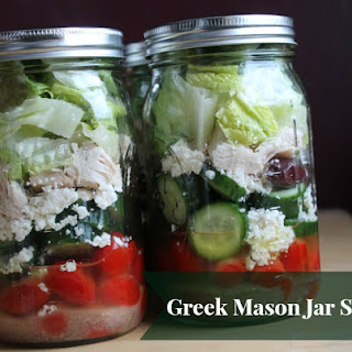 Greek Mason Jar Salad