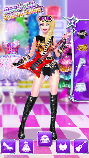 ud83cudf99ufe0fud83dudc67Music Girl Makeup Salon - Rock Star Dress Up screenshots 10