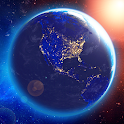 3D Earth & Real Moon. Live Wallpaper. icon