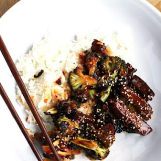 Sweet and Spicy Asian Beef and Broccoli.